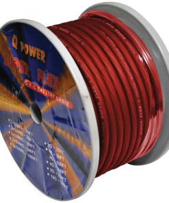 POWER WIRE 0GA. 50' RED QPOWER