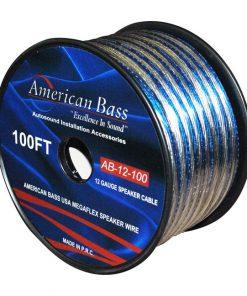 SPEAKER WIRE 12GA. 100' BLUE AMERICAN BASS ** AB12-100****AB280**