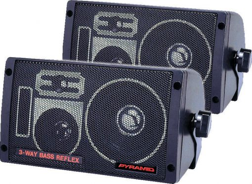 BOX SPEAKER PYRAMID 3-WAY 100 WATT BASS REFLEX