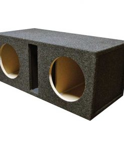 "EMPTY WOOFER ENCLOSURE OBCON DUAL 12"" SLOT VENTED;MDF"