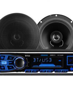 Boss 611UAB Mechless Bluetooth MP3 Digital Media Receiver/Speaker Package System