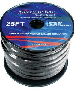 American Bass 0 Gauge black 25 ft. Roll(AB4655BK25FT)