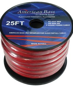American Bass 0 Gauge Red 25 ft. Roll(AB4655RD25FT)