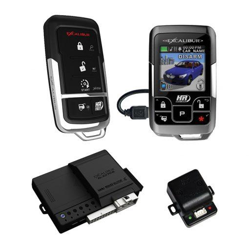 Excalibur 1 Mile Color 2 Way Security & Remote Start Alarm Combo