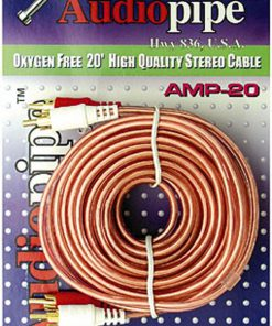 RCA CABLE 20' AUDIOPIPE OFC CLEAR INSTALLER SERIES