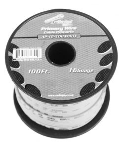 Audiopipe 16 gauge 100ft White primary wire