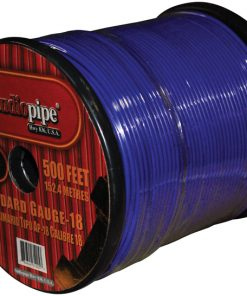 (PW18) AUDIOPIPE 18GA WIRE 500' BLUE