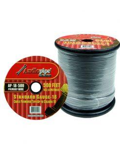 Audiopipe 18 Gauge 500Ft Primary Wire Grey