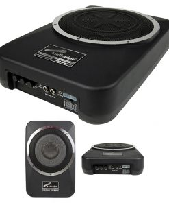 "Audiopipe Amplified 8"" Active Enclosed Low Profile Subwoofer System"