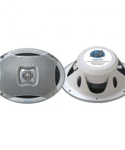 "Lanzar 6X9"" 2-Way Marine Speakers Silver 500W Max"