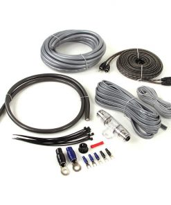 Belva Complete Amp Kit 4 Gauge with RCA Black & Silver Wire