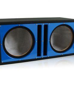 """Belva Dual 12"""" Ported Empty Enclosure Blue Face"""