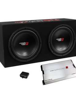 "Cerwin Vega 3000W MAX Basskit XED Dual 12"" loaded sealed 3/4"" MDF encl w/1000W MAX amp"
