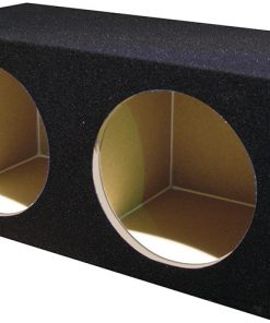 """Qpower Dual 10"""" Woofer Box 2 Hole with outer carton"""