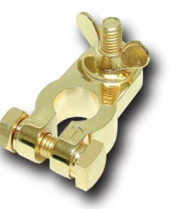BATTERY TERMINAL AUDIOPIPE POSITIVE; GOLD PLATED