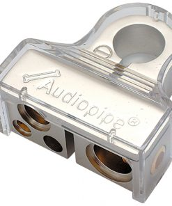 BATTERY TERMINAL AUDIOPIPE NEGATIVE - PLATINUM FINISH