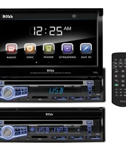 """Boss 7"""" Flip-Out Single Din ReceiverBluetooth DVD/CD USB/SD Front Aux input"""