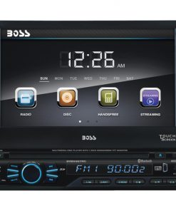 "Boss Single din 7"" Flip out receiver DVD/CD Bluetooth Remote with Backup Camera"