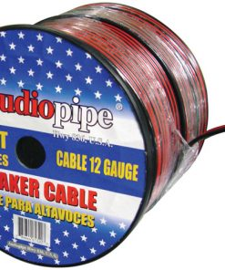SPEAKER CABLE 12GA. 500' AUDIOPIPE;RED + BLACK