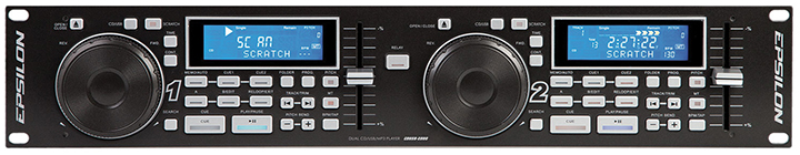 "Epsilon Professional 19"" dual rack multi-format digital CD/MP3/USB player"