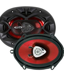 "Boss 5x7"" Speaker 2-Way red poly injection cone"