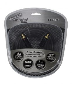 Audiopipe 24kt Gold Plated Interconnect Cable 15ft