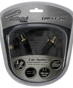 Audiopipe 24kt Gold Plated Interconnect Cable  1 Female to 2 Male