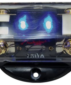 FUSEBLOCK AUDIOPIPE 2 POSITION ANL PLATINUM W/BLUE LED