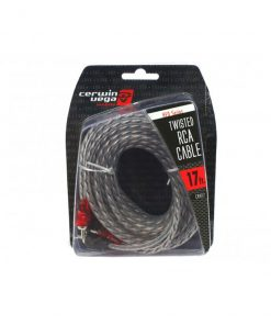 Cerwin Vega HED Series 2-channel RCA cable 17ft. Twisted pair single molded ends