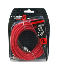 Cerwin Vega Vega Series 2-channel RCA cable 17ft dual twisted dual molded ends