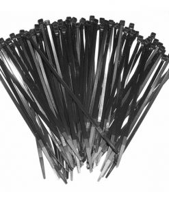 "15"" Black Wire Ties (100 pcs)"