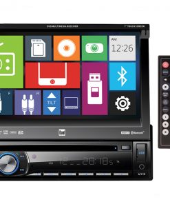Dual DVD Receiver with a 7 Inch Flip-out Touch Screen Display