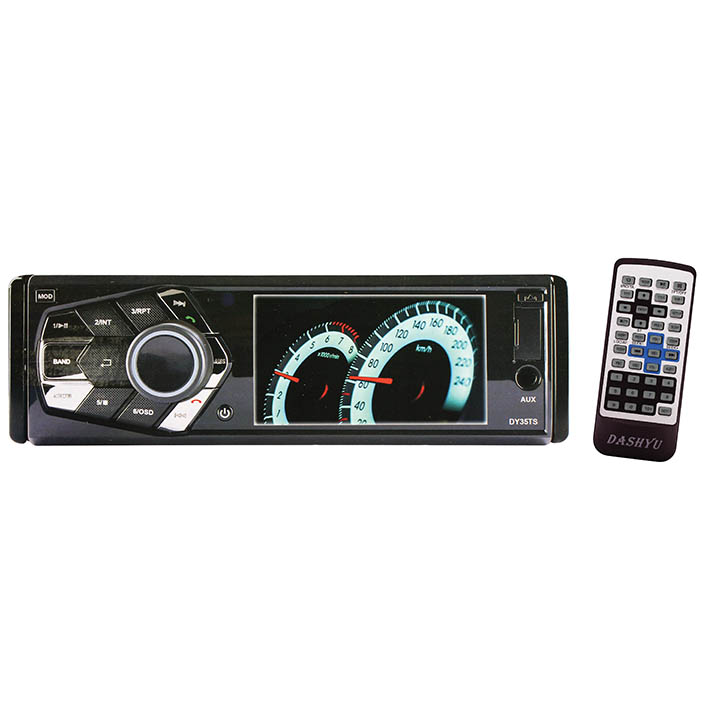 "Dashyu 3.5"" LCD Single Din DVD/CD Player w/Bluetooth"