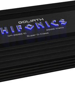 Hifonics Goliath 1 x 625 @ 4 Ohms 1 x 1250 @ 2 Ohms 1 x 2500 Watts @ 1 Ohm