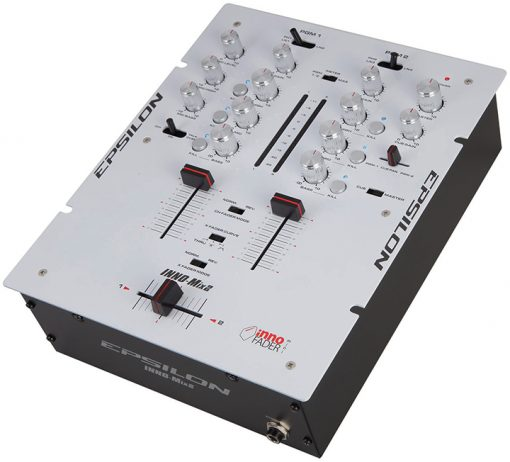 Epsilon Ultra compact Pro DJ battle mixer with built in mini iNNO (white)