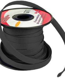 Installation Solution Expandable Braided Sleeve Black 1/4""