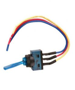"Nippon illuminated toggle switch with 6"" lead wire blue"