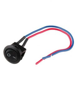 "Nippon mini rocker switch with 6"" lead wire"