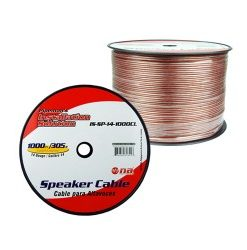 Pipeman's 14 Gauge Speaker Cable 1000Ft Clear jacket