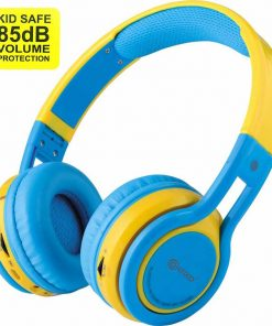 Contixo Kids Headphone 85DB Over Ear Foldable Wireless Bluetooth MicroPhone SDCard Music FMRadio Blu