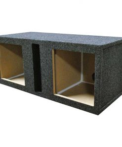 "EMPTY WOOFER BOX; R/T DUAL 12"" FOR KICKER L5+L7; SLOT VENT"