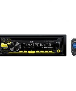 JVC CD Receiver USB/Aux Input 2-Line VA LCD Display Sirius XM Ready Remote