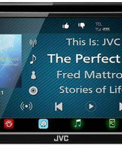 """JVC D.Din 6.8"""" AM/FM/BT/DVD Touchscreen"""