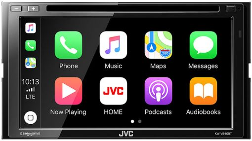 "JVC D.Din 6.8"" AM/FM/BT/DVD Touchscreen Apple CarPlay Android Auto WebLink Compatible"