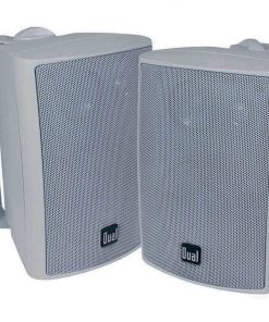 "Dual 4"" 3-Way Indoor/Outdoor Speaker White"