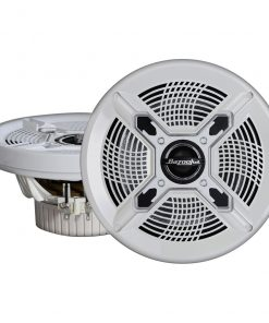 BAZOOKA MARINE COAXIAL 6.5 IN WHITE (PAIR)