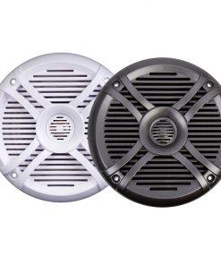 "Power Acoustik Marine 6.5"" Speakers (pair) 2 way White & Titanium Grills"