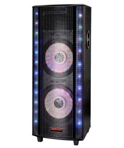 "Maxpower 10"" x 2 DJ Speaker System with dancing lights bluetooth USB/SD/FM"