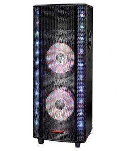 """Maxpower 2-12"""" Pro Dj Box 10000W Max USB/SD microphone Bluetooth"""