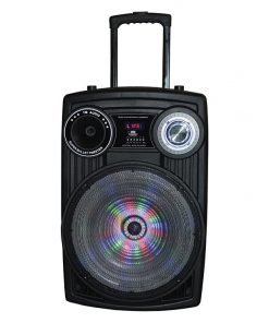 """Maxpower Karoke Ssytem with 15"""" Woofer and Moon light Built in USB/SD/BT/Mic 5000W max"""
